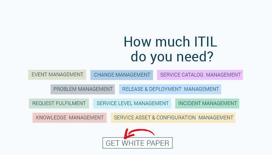 service desk and ITIL software